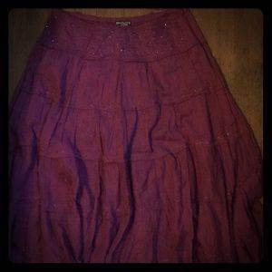 Dresses & Skirts - Boho mid calf Flowy skirt